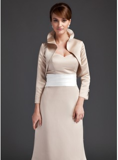 3/4-length Maniche Satin Special Occasion Jacket / Wedding Wrap (013004362)