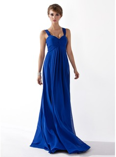 Empire Sweetheart Floor-Length Chiffon Prom Dress With Ruffle (018004998)
