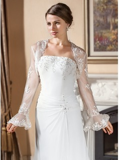 Long Sleeve Lace Wedding Wraps (013024560)
