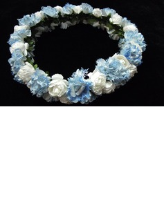 Lovely Paper/ Satin Flower Wedding Flower Girl Wreath/ Headpiece (042025215)