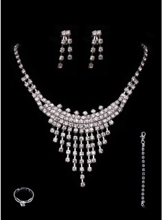 Jóias (Gorgeous Alloy With Rhinestones Wedding Bridal Jewelry Set 011005489)