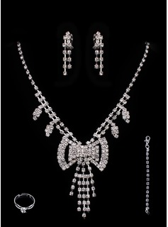 Jóias (Gorgeous Alloy With Czech Rhinestones Wedding Bridal Jewelry Set,Including Earrings And Rings 011005490)
