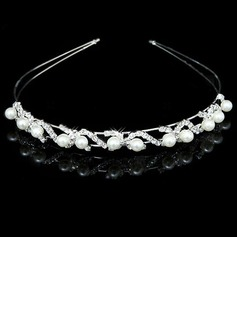 Gorgeous Clear Crystals And Imitation Pearls Bridal Tiara/ Headpiece (042012941)