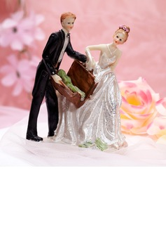 """Stash of Cash"" Resin Wedding Cake Topper"