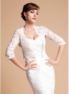 Half-Sleeve Lace Wedding Wrap