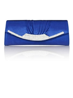 Gorgeous Satin With Austrian Rhinestone Evening Handbags/ Clutches More Colors Available (Royalblue) (012011033)