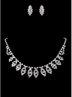 Jewelry Sets Anniversary Wedding Engagement Birthday Gift Party Daily Alloy Silver Jewelry With Rhinestone (011017873)