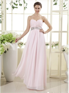 A-Line/Princess Sweetheart Floor-Length Chiffon Mother of the Bride Dress With Ruffle Beading (008015439)