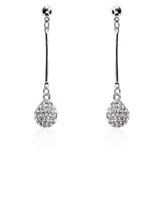 Drop Earrings Wedding Alloy Rhinestone Earrings With Silver (097020265)