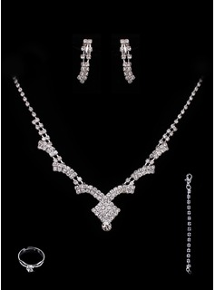 Jóias (Gorgeous Alloy With Rhinestones Wedding Bridal Jewelry Set 011005488)