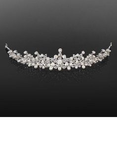 Tiaras Wedding Special Occasion Rhinestone Silver Headpieces With White (042019212)