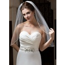 One-tier Fingertip Bridal Veils With Finished Edge (006034103)