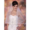 One-tier Waltz Bridal Veils With Ribbon Edge (006002246)