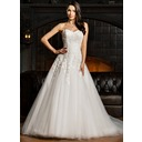 Ball-Gown Sweetheart Court Train Tulle Lace Wedding Dress (002067219)