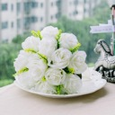 Charming Ivory Round Satin Bridesmaid Bouquets (123031488)