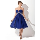 Empire Sweetheart Tea-Length Chiffon Homecoming Dress With Ruffle Beading Sequins (022020852)