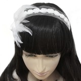 Beautiful Alloy/Feather Wedding Headbands  (042019428)