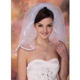 Blusher Veils Tulle Two-tier Ribbon Edge Wedding Veils (006020437)