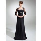 Empire Strapless Court Train Charmeuse Mother of the Bride Dress With Ruffle Lace (008006428)