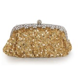 Fabulous Satin with Sequins and Crystals Evening Handbag/Clutches(More Colors) (012016233)