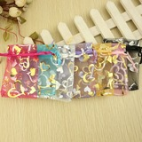 Heart style Favor Bags With Ribbons (Set of 12)