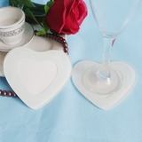 Heart Shaped Glass Coaster (Set of 2)