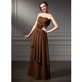 Empire Sweetheart Floor-Length Chiffon Charmeuse Mother of the Bride Dress With Ruffle Flower(s) (008005649)