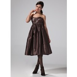 Empire Sweetheart Knee-Length Taffeta Bridesmaid Dress With Ruffle (007004329)
