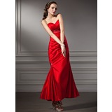 Mermaid Sweetheart Ankle-Length Taffeta Prom Dress With Ruffle Beading (018013816)