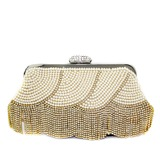 Charming Pearl With Rhinestone Clutches