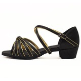 Satin Leatherette Sandals Flats Latin Ballroom Dance Shoes With Bowknot (053011476)