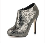 Stiletto Heel Platform Closed Toe Ankle Boots shoes