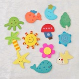 Beach Theme Wooden Stickers (Set of 12 pieces)
