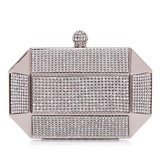 Shining Metal/PVC With Rhinestone Clutches
