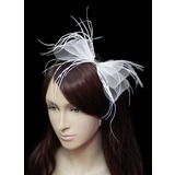 Flannelette surpreendente Com Fascinators Wedding Femininos Tule (042024898)