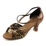 Women's Leatherette Heels Sandals Latin With Bowknot Dance Shoes