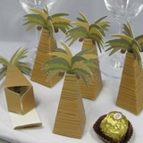 Coconut Tree Design Favor Box (Set of 12) (050013115)