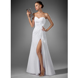 Sheath Sweetheart Floor-Length Chiffon Evening Dress With Ruffle (017022520)