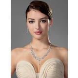 High Quality Czech Rhinestones With Alloy Plated Wedding Jewelry Set,Including Necklace And Earrings (011006982)