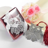 Owl Shaped Stainless Steel Bookmarks With Tassel