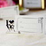 Love Design Chrome Place Card Holders (Set of 4)