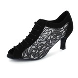 Nubuck Heels Pumps Ballroom Swing Dance Shoes (053020413)