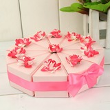 Pyramid Favor Boxes With Flowers/Ribbons (Set of 10)