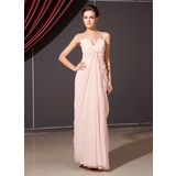Sheath Sweetheart Floor-Length Chiffon Bridesmaid Dress With Ruffle (020014253)
