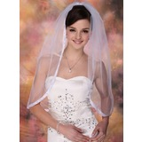 Elbow Veils Tulle One-tier Ribbon Edge Wedding Veils (006020340)