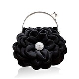 (Black)Satin With Shining Rhinestones Evening Handbags/ Clutches/ Top Handle Bags (012013559)