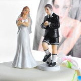 Sports Couple Resin Wedding Cake Topper (122036153)