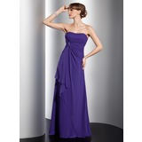 Empire Sweetheart Sweep Train Chiffon Bridesmaid Dress With Ruffle Beading (007001097)