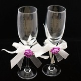 Simple Design Lead-free Glass Toasting Flutes (Set Of 2) (126032337)
