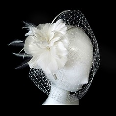 Gorgeous Tulle With Feather Wedding Bridal Headpiece (042025099)